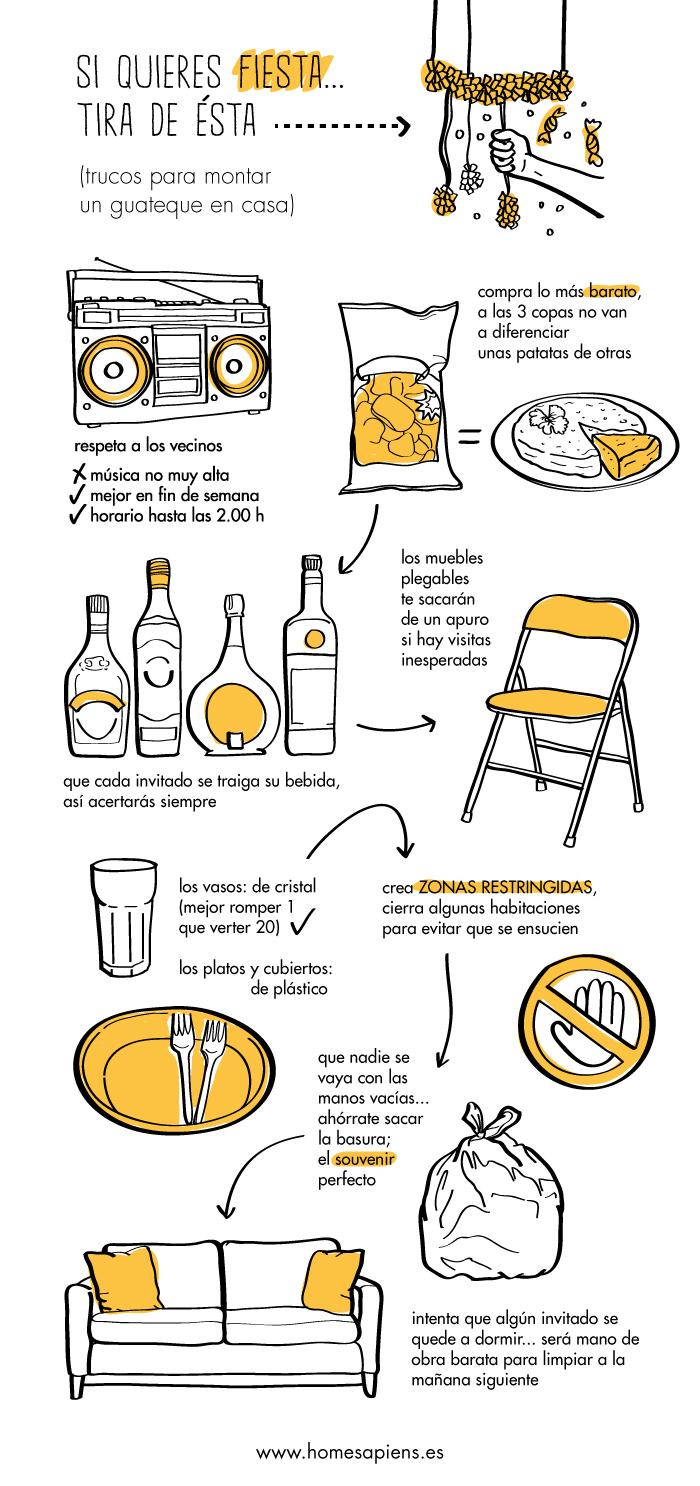 Cómo organizar una buena fiesta en casa