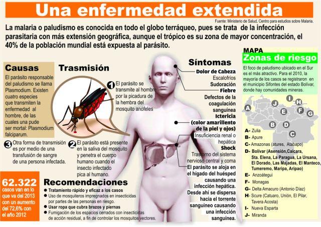 La malaria, una enfermedad extendida, vía Infografías en Castellano