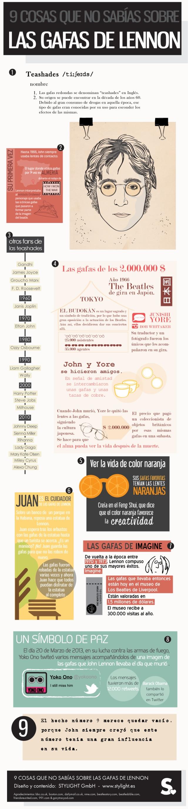 9 cosas que no sabías sobre las gafas de Lennon