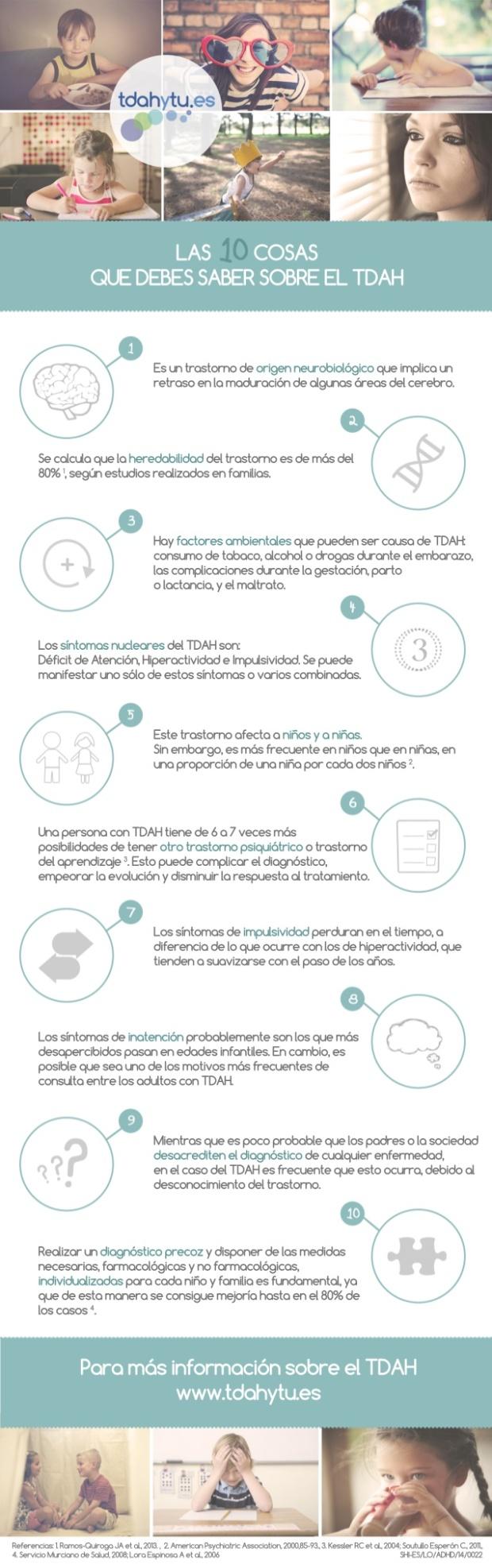 10 cosas sobre el trastorno de atención (TDAH)
