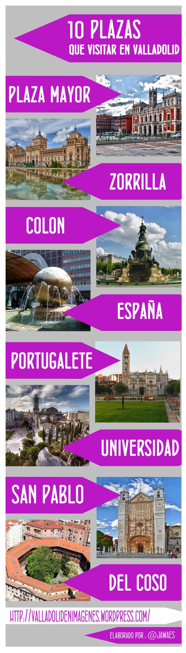 10 plazas que debes visitar en Valladolid