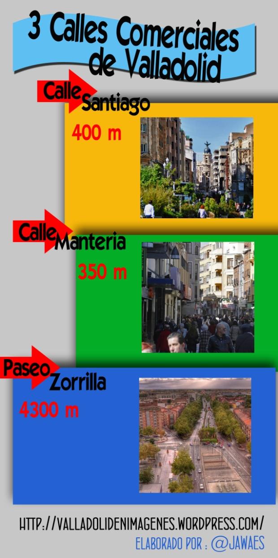 3 Calles Comerciales de Valladolid