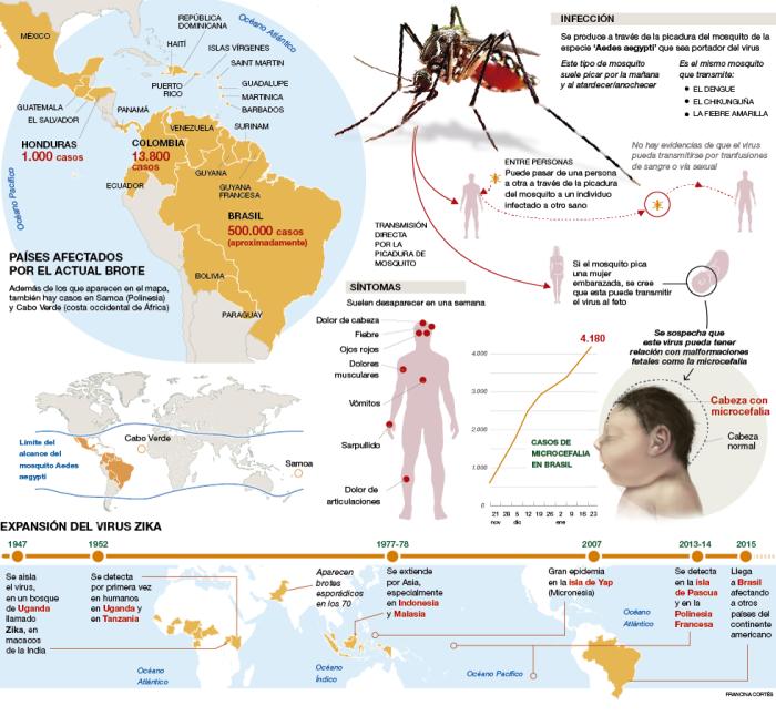 El virus Zika en el Mundo